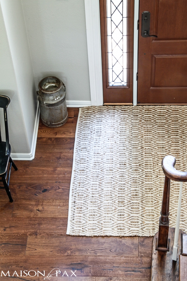 Farmhouse Foyer Rugs : Do as i say not maison de pax