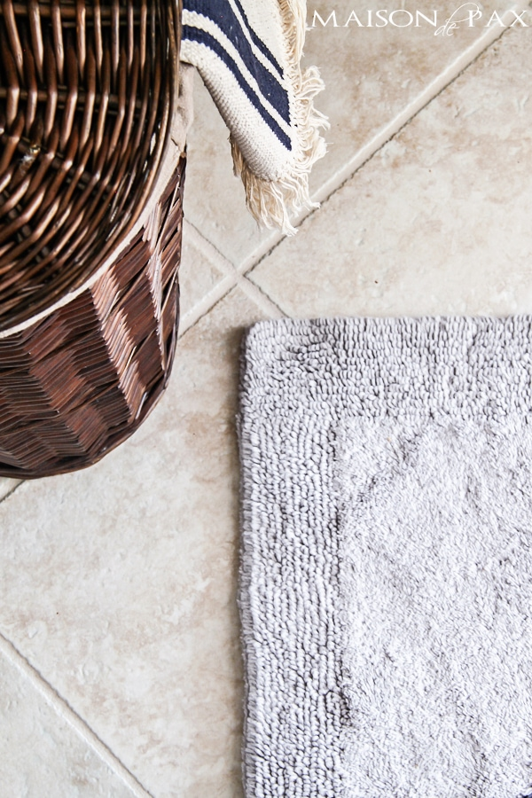 This luxurious organic cotton bath rug is perfect | maisondepax.com