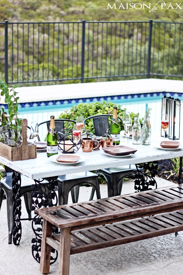 gorgeous, elegant yet casual outdoor dinner party setting | maisondepax.com