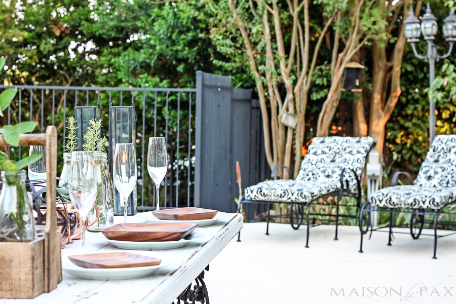 Elegant Yet Casual Outdoor Dinner Party Maison De Pax