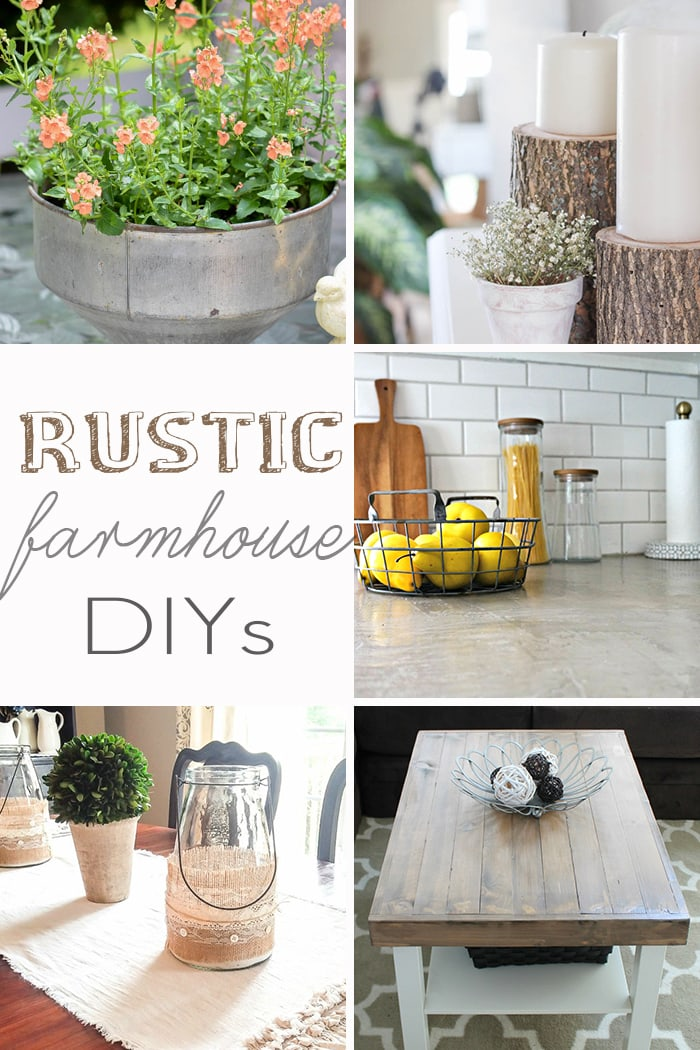 Rustic farmhouse DIY projects with tutorials