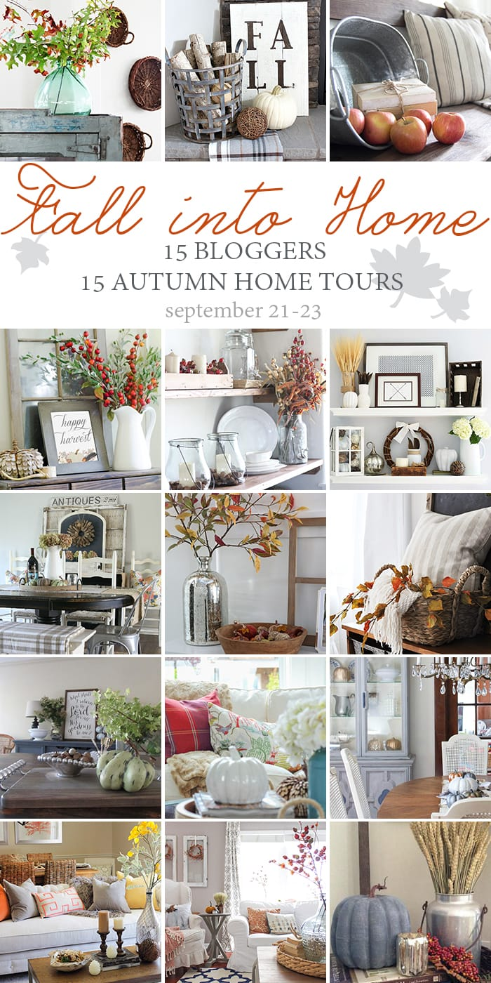 15 incredible fall home tours: 15 bloggers, so many amazing fall decorating ideas! maisondepax.com