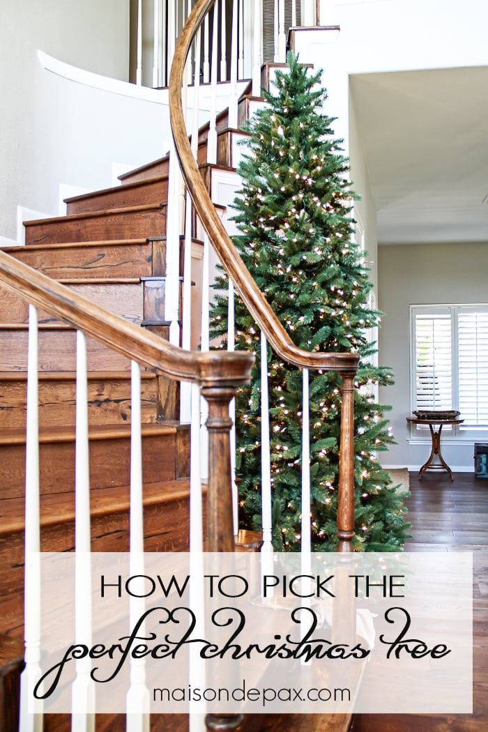 What a gorgeous staircase! Tips for choosing the perfect tree for any space, look, or budget | maisondepax.com