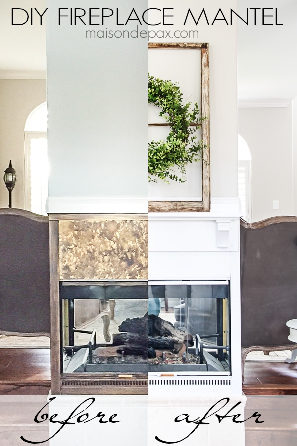 DIY Fireplace Makeover from Maison de Pax [Weekly Round-up at High-Heeled Love]