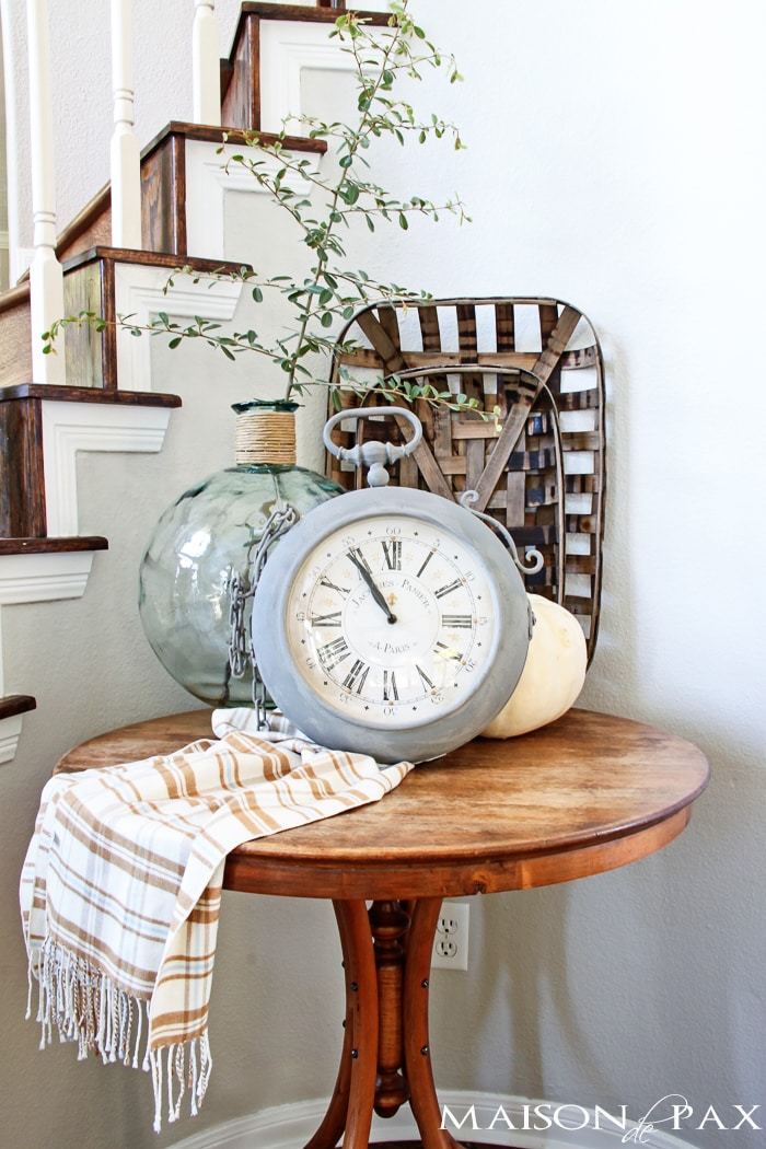 gorgeous painted vintage clock plus great tips for painting accessories | maisondepax.com
