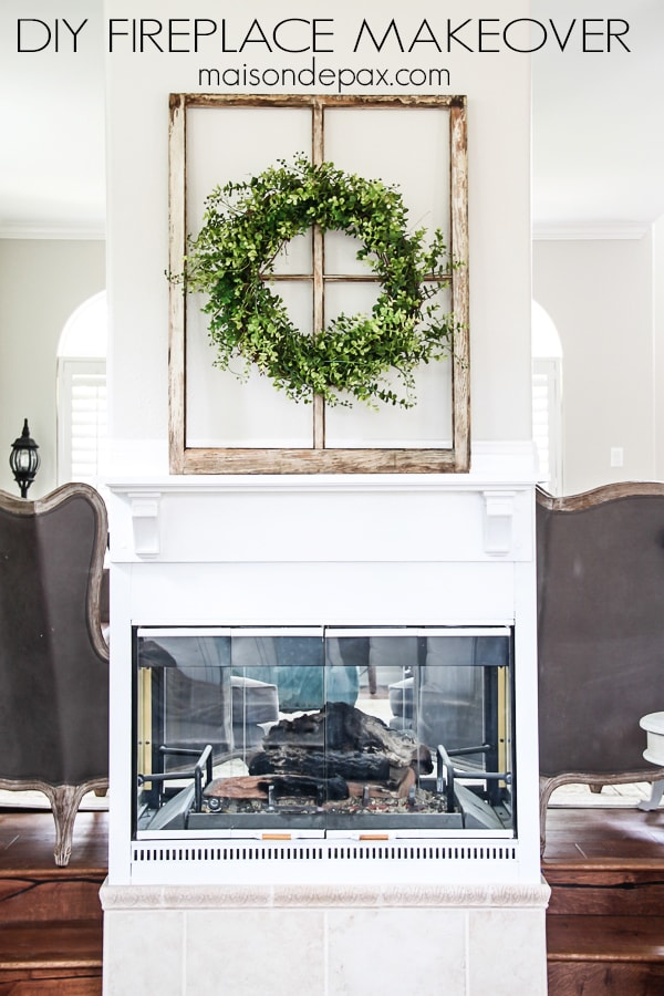 DIY Fireplace Makeover Maison De Pax