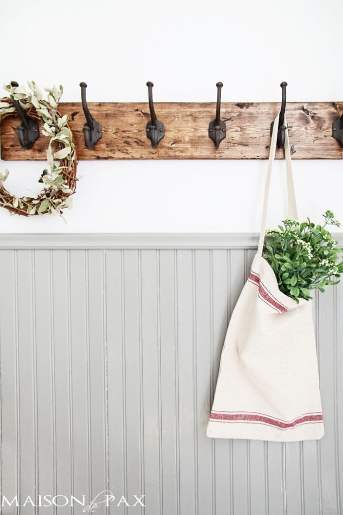 Farmhouse Kitchen Towel Rack