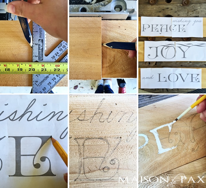 Step by step tutorial for a beautiful sign made from a cedar fence picket | maisondepax.com