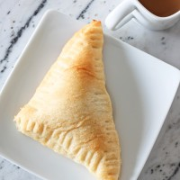 Adorable little individual pumpkin treats - a perfect fall and Thanksgiving recipe: 5 ingredients rolled up in Pillsbury crescent rolls... couldn't be easier! maisondepax.com