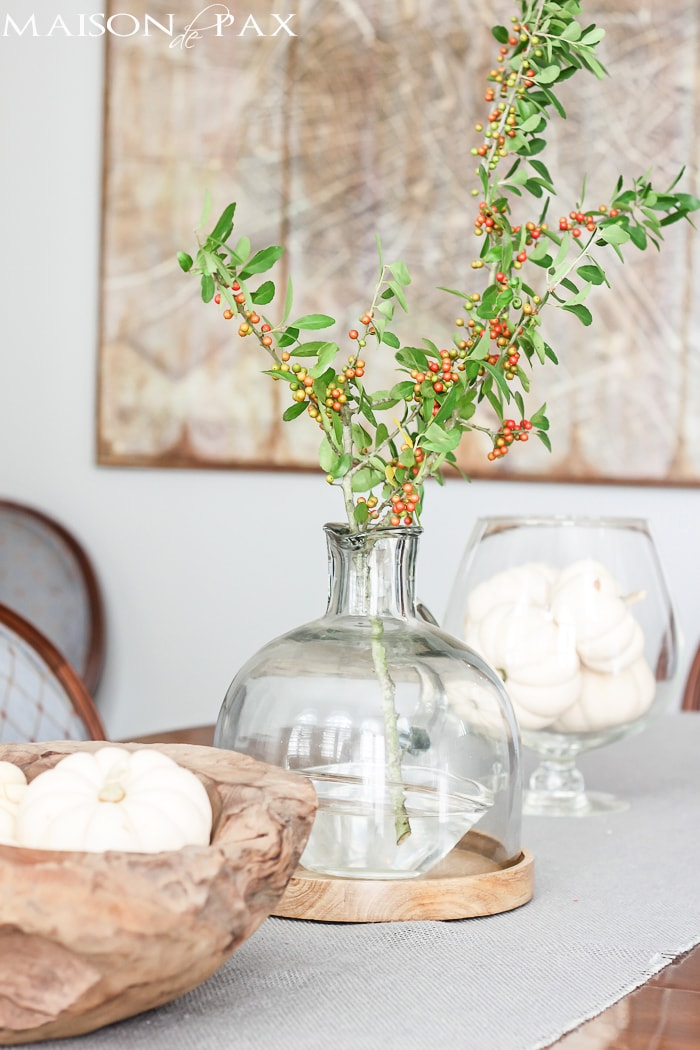 Beautiful! So many wonderful ideas for a casual and easy Thanksgiving celebration | maisondepax.com