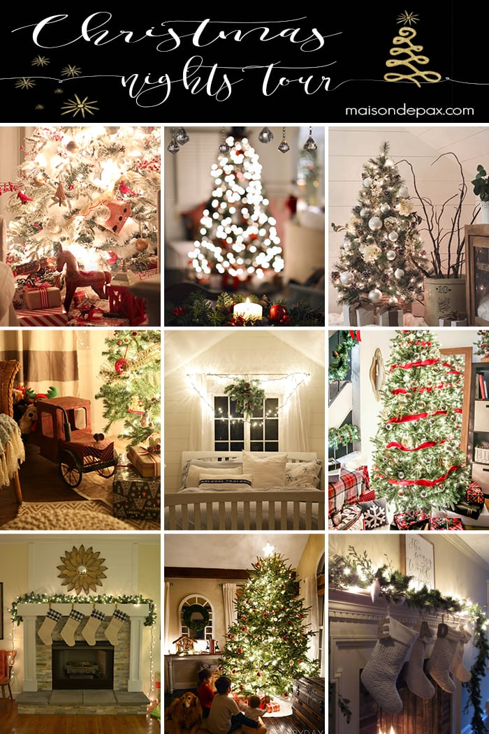 So amazing! Tour 25 gorgeous homes all lit up at night for the holidays   maisondepax.com