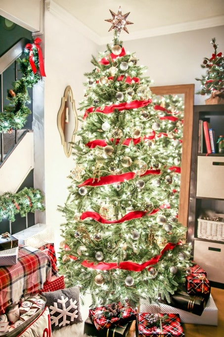 put a mirror behind the tree for an extra sparkle!