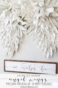 How to make angel wings from vintage sheet music... Stunning! maisondepax.com
