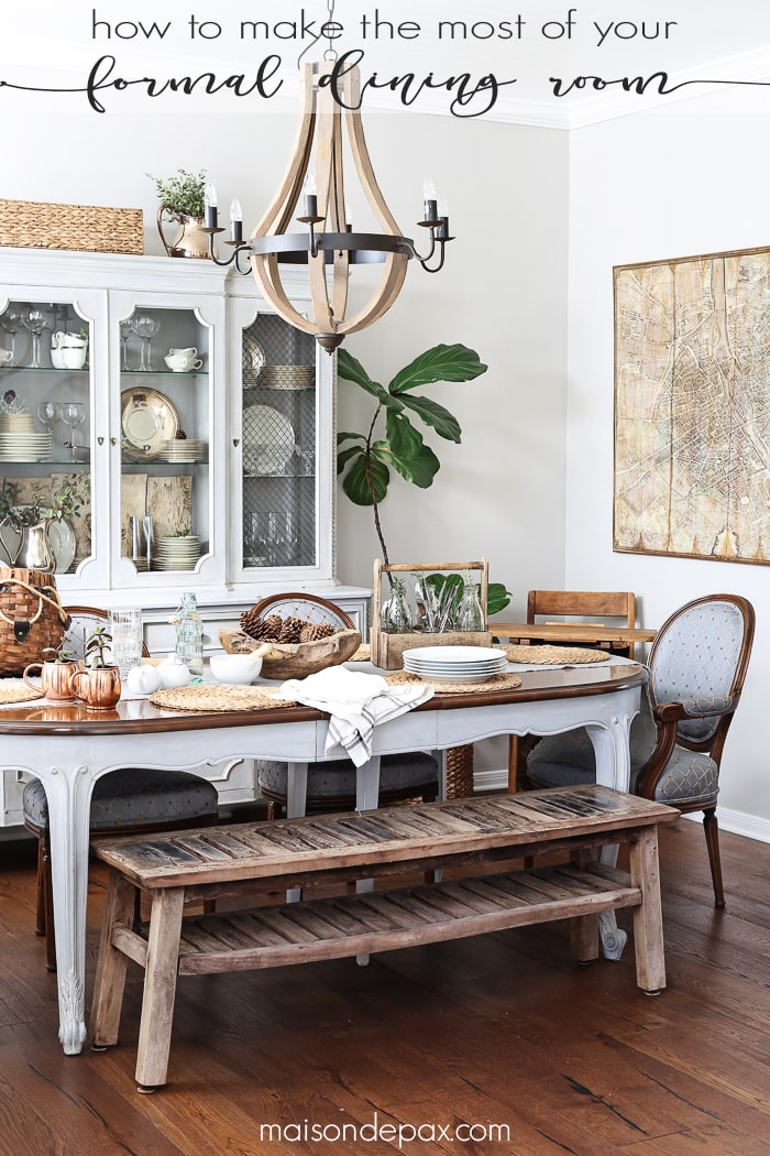 Using Your Dining Room - Maison de Pax