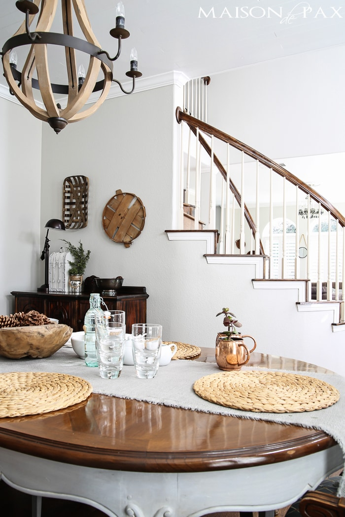 gorgeous dining room with neutrals and lots of texture | maisondepax.com