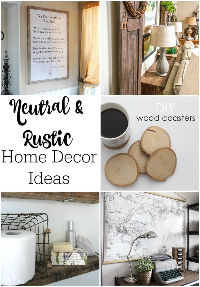 Neutral and rustic diy home decor ideas maison de pax - Home decorating ideas blog ...