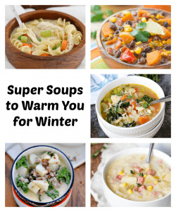 Hearty soup is one of the best and easiest things for dinner on a cold day. These delicious soup recipes will have your meal calendar all set this winter!