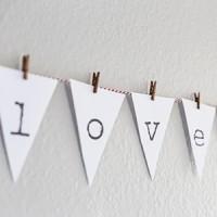 Valentines Banner Printable (square)