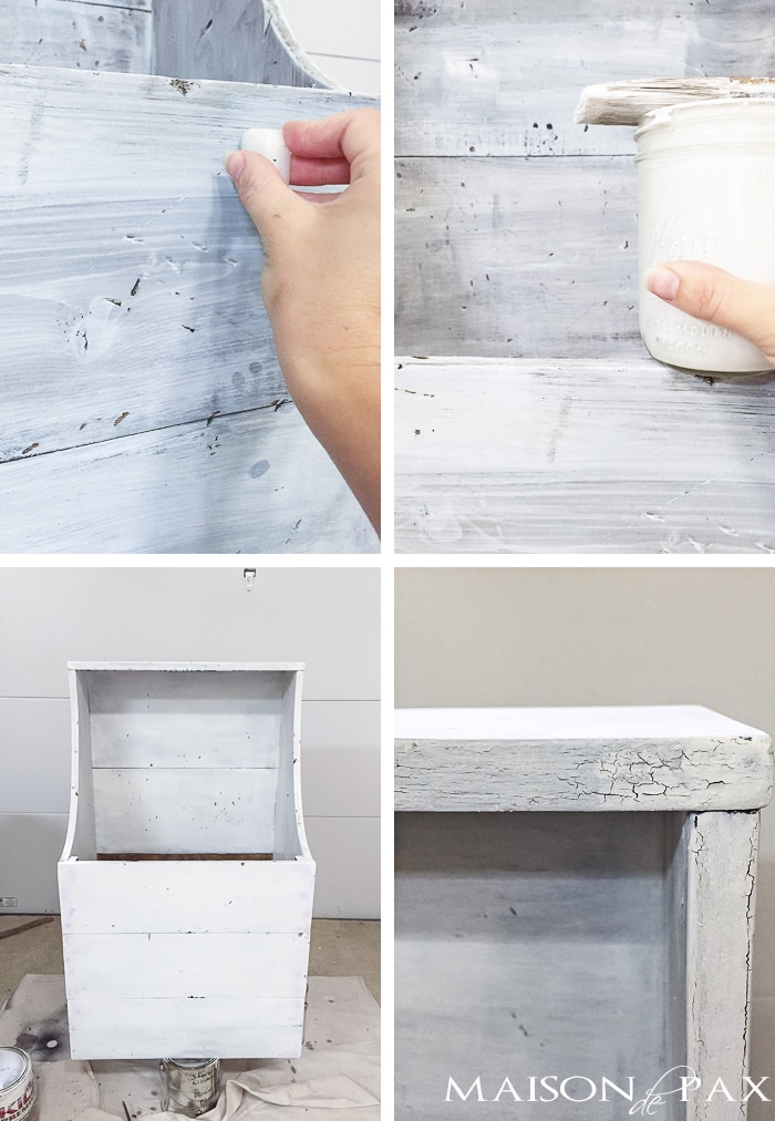 layering different colors of milk paint can create an authentic, chippy, antique look | maisondepax.com
