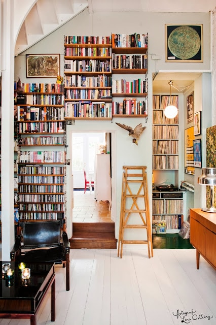 line the walls with books!