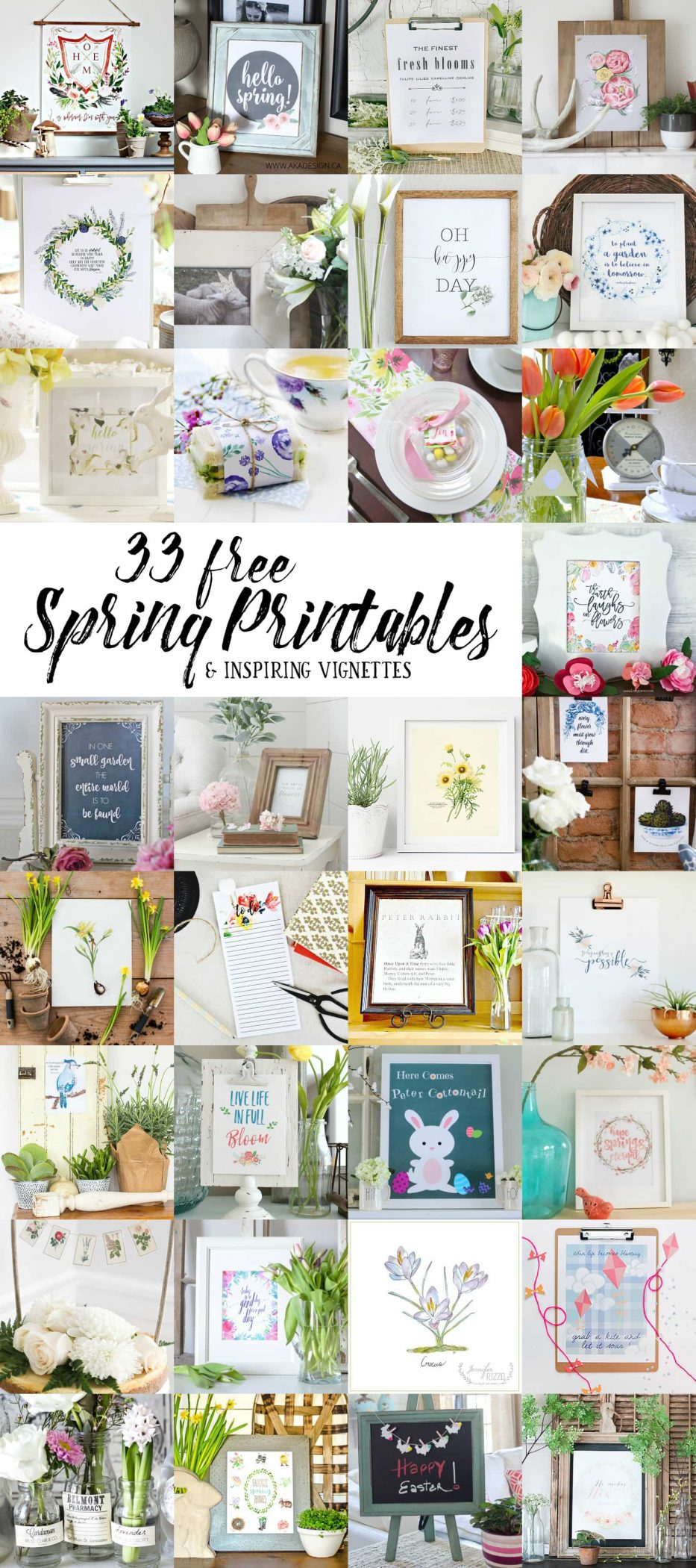 So many beautiful FREE printable for spring! maisondepax.com