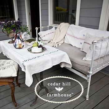 french country spring porch