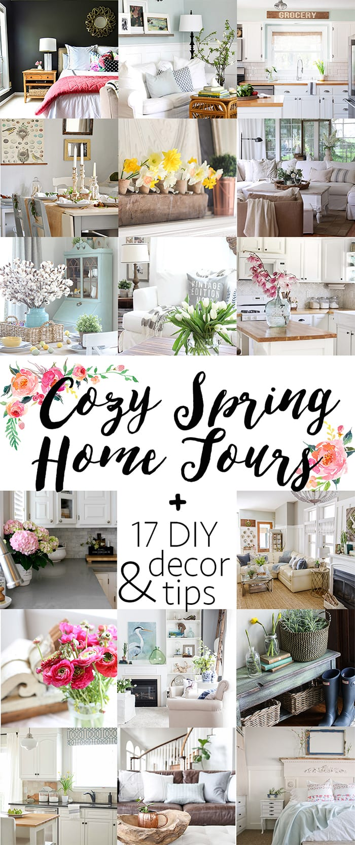 So many beautiful homes! Spring decorating ideas, diy tips, and more in these spring home tours | maisondepax.com