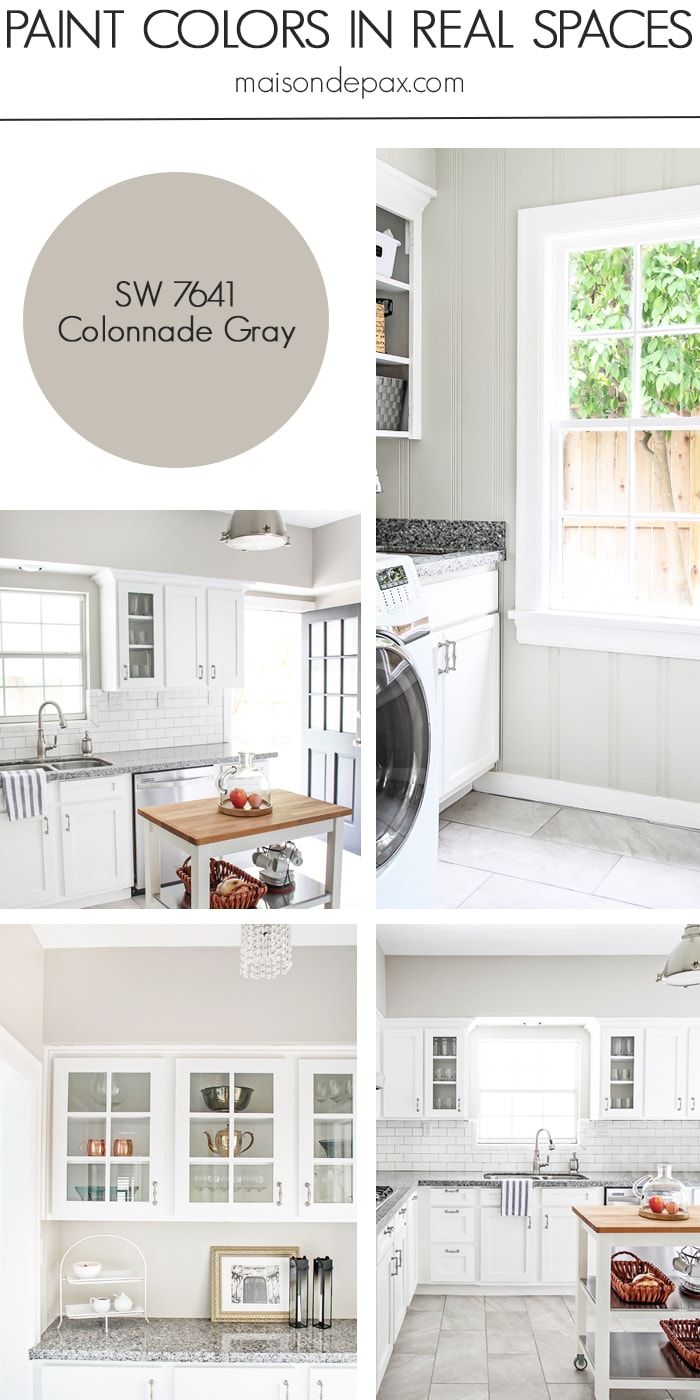Colonnade Gray (SW 7641) by Sherwin Williams: see paint colors in real spaces in this home tour full of lovely, nature-inspired neutrals | maisondepax.com