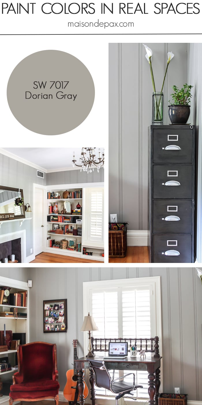 Dorian Gray (SW 7017) by Sherwin Williams: see paint colors in real spaces in this home tour full of lovely, nature-inspired neutrals | maisondepax.com