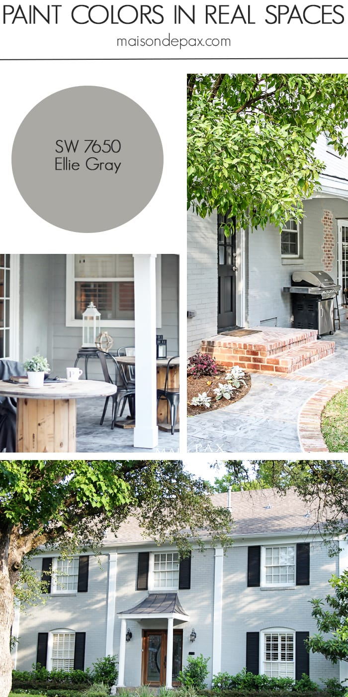 Ellie Gray (SW 7650) by Sherwin Williams: see paint colors in real spaces in this home tour full of lovely, nature-inspired neutrals | maisondepax.com