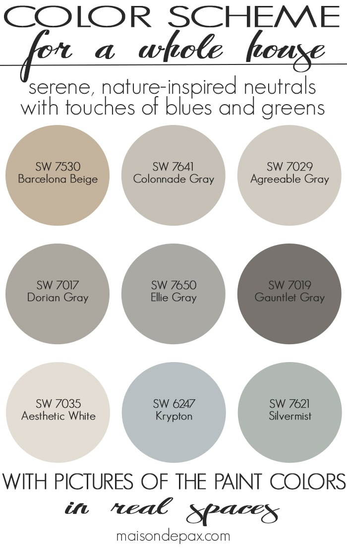 paint color home tour nature inspired neutrals maison