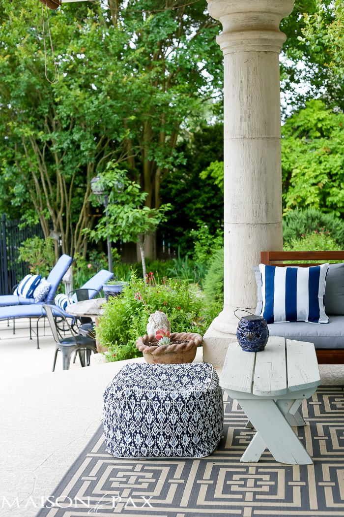 Where to buy affordable outdoor cushions PLUS 5 steps to getting your patio ready for summer | maisondepax.com