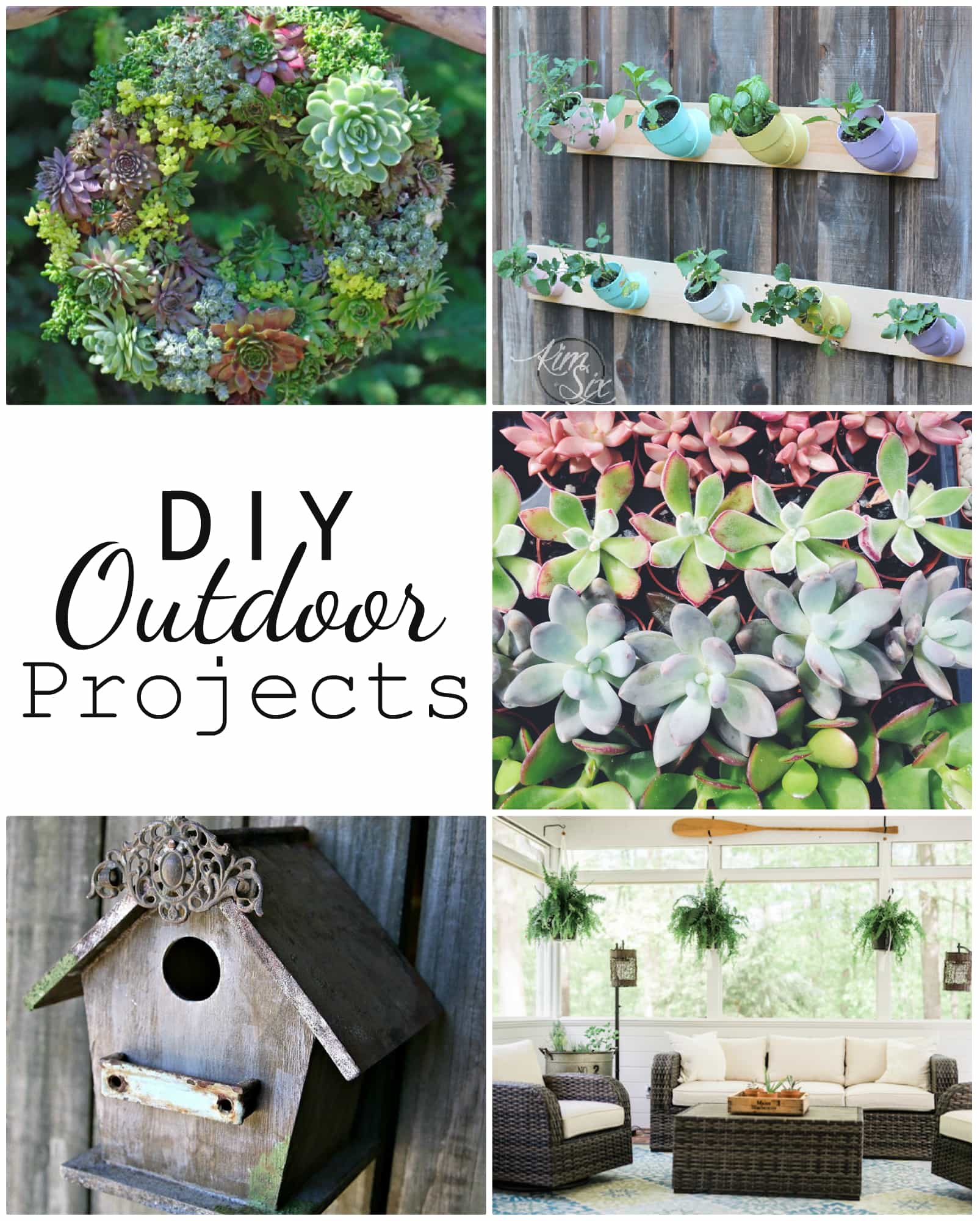So many creative ideas for outdoor and garden projects!