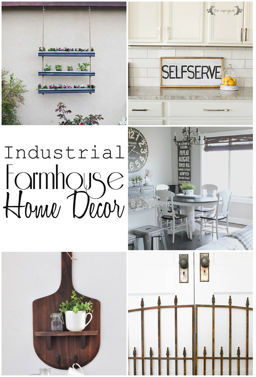 industrial farmhouse home decor - maison de pax