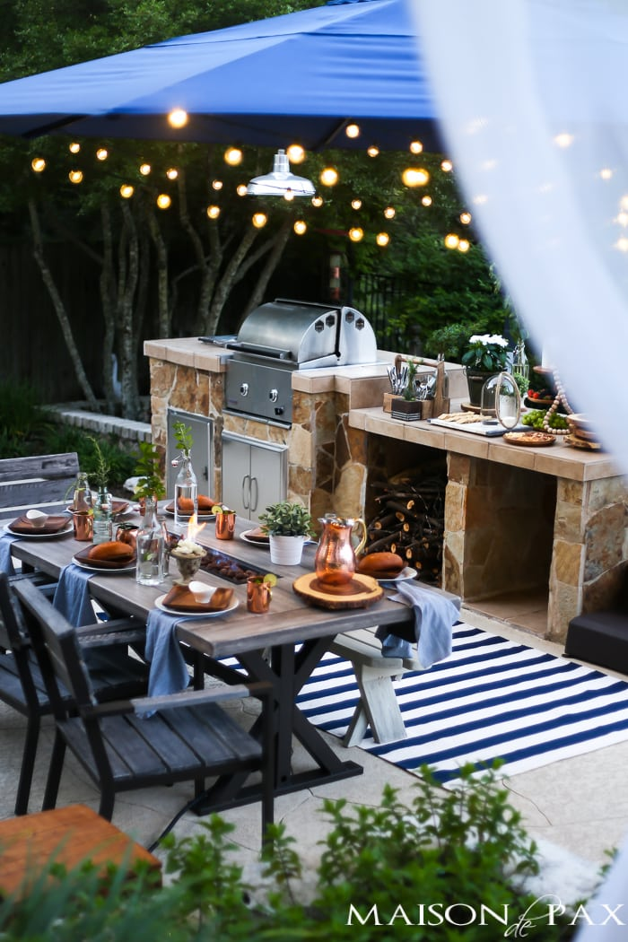 Summer outdoor dining space reveal maison de pax for Decoracion patios exteriores