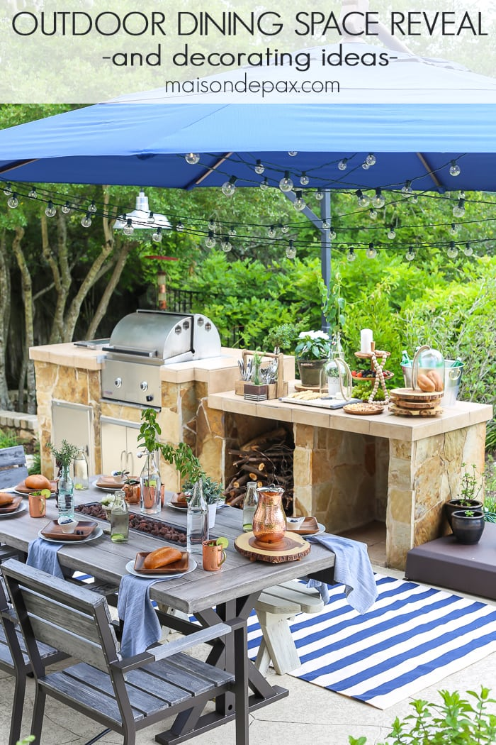 Summer outdoor dining space reveal maison de pax for Backyard entertainment ideas