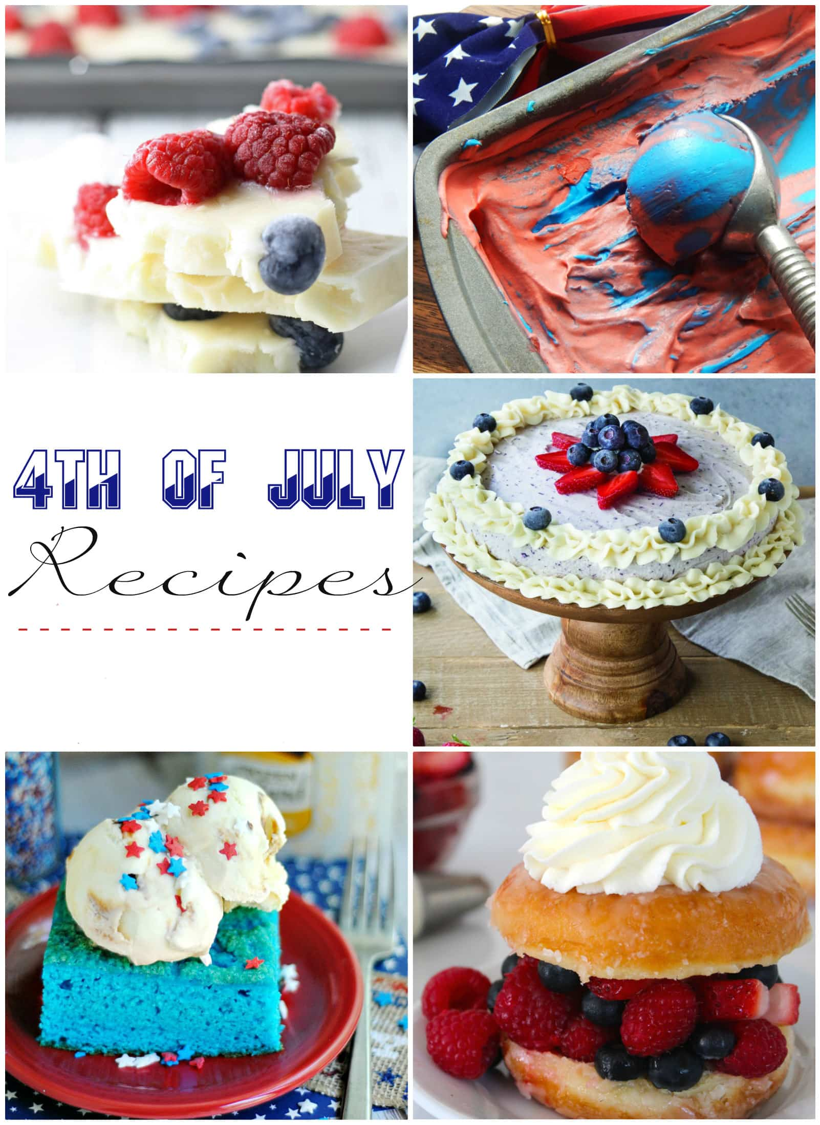 Delicious red white and blue treats... perfect 4th of July recipes!