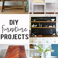 herringbone coffee table, coffee bar, rustic carriage bench, and more: DIY furniture projects
