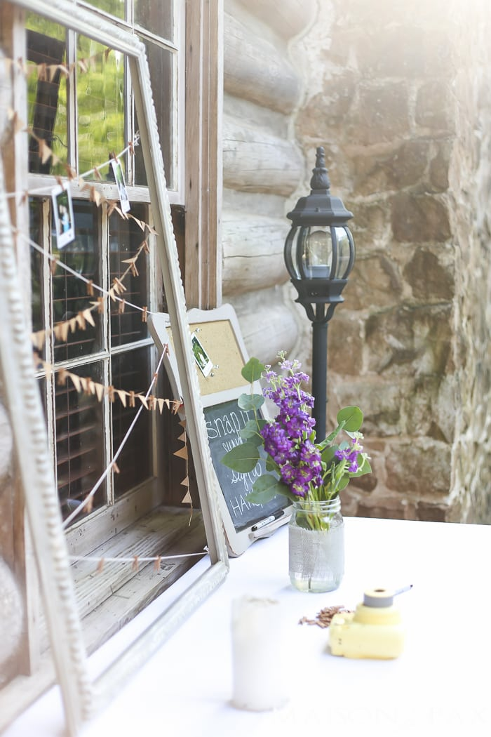 Polaroid Station Instead Of A Wedding Guest Book Rustic Decorations