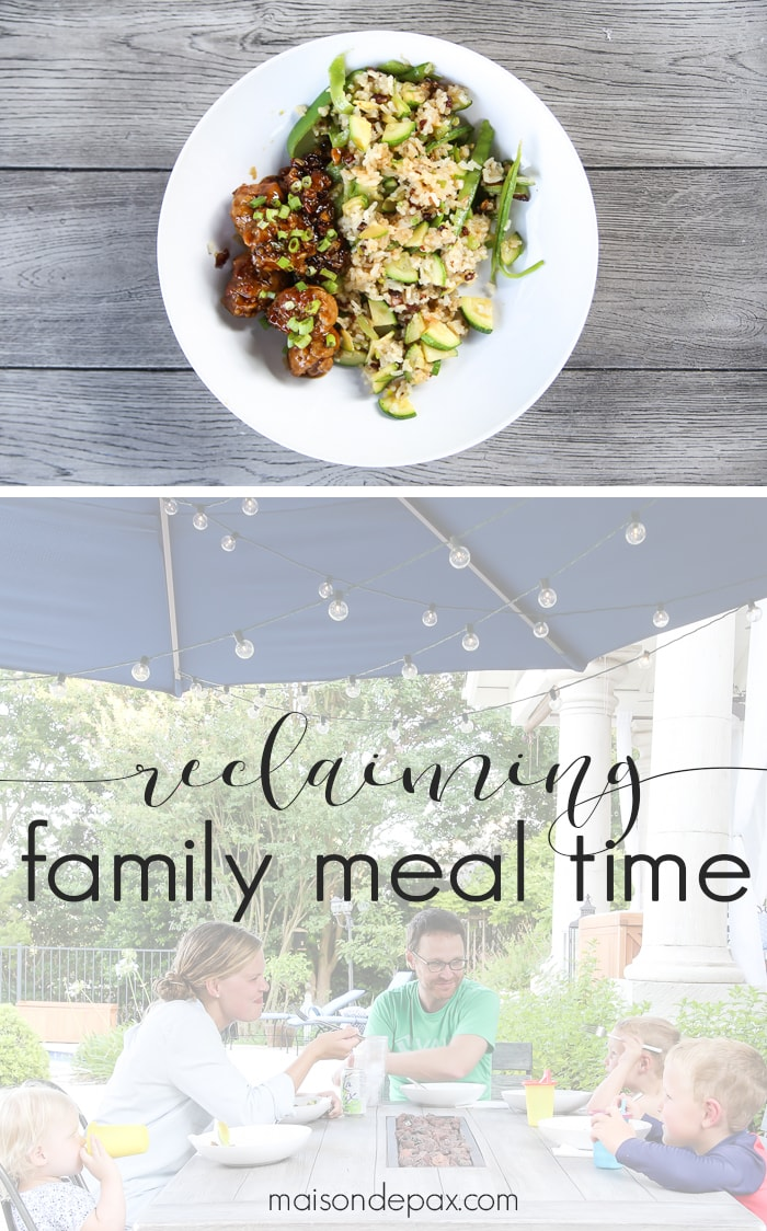 Reclaiming Family Meal Time: so important for our families!