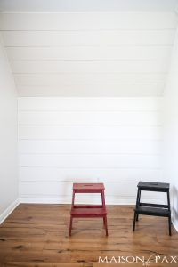 How to Plank a Wall: excellent tutorial on getting that diy shiplap look!