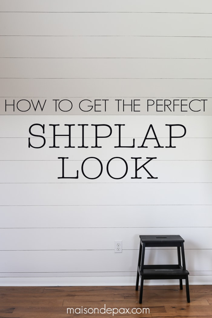 Very How to Plank a Wall (DIY Shiplap) - Maison de Pax TF74