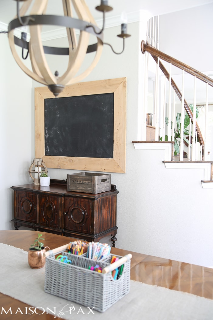 Brilliant! Tips for Organizing a Homework Space: include a chalkboard