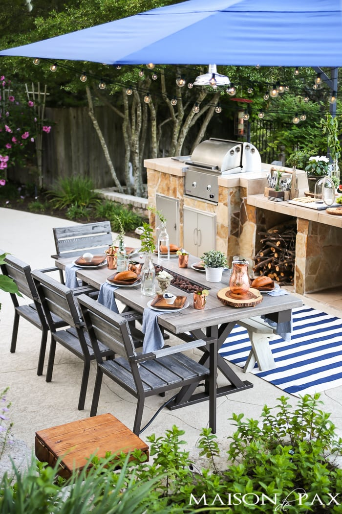 Outdoor Decorating Tips: make your space functional with a built in grill and serving area