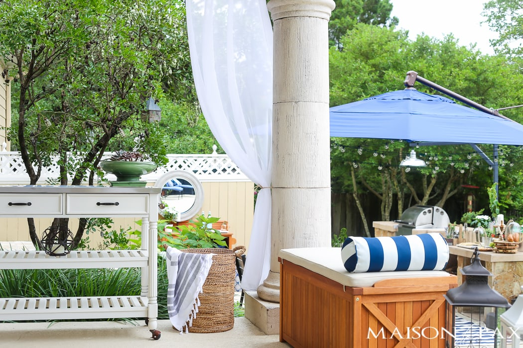 Outdoor Decorating Tips: keep your wood furniture looking its best by waterproofing it properly