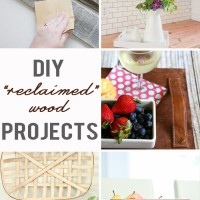 "Tutorials for cleaning, sanitizing, and building with reclaimed (or made to look ""reclaimed"") wood!"