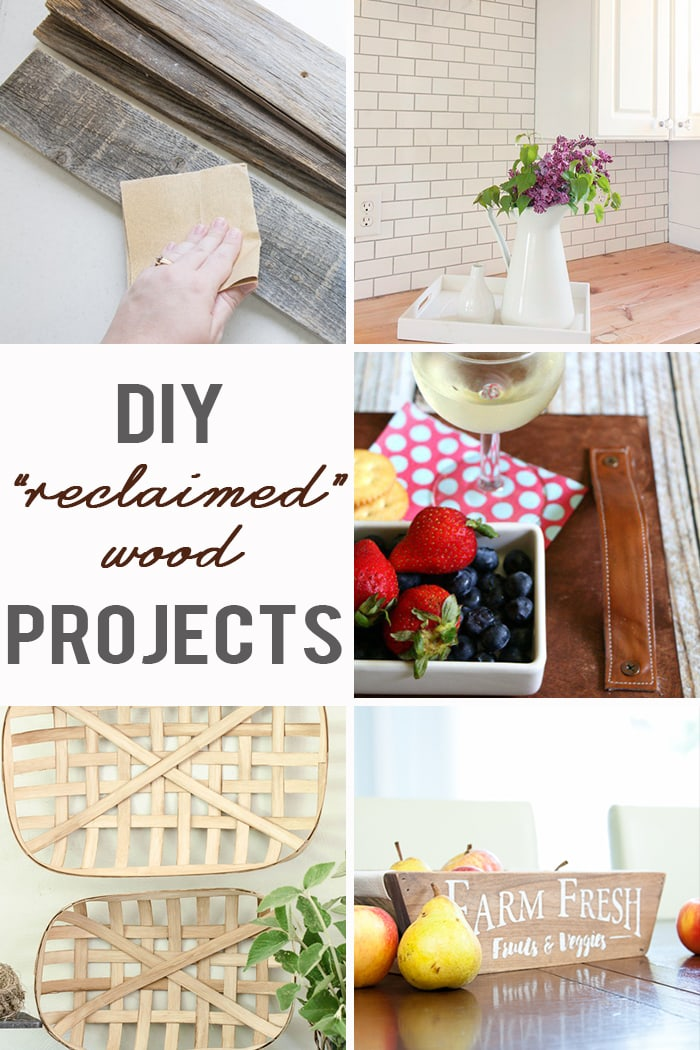 """Tutorials for cleaning, sanitizing, and building with reclaimed wood (or made to look """"reclaimed"""")!"""