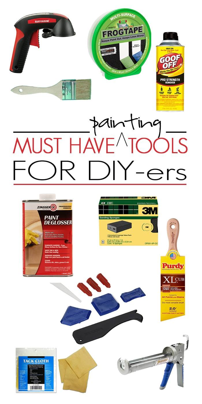 Painting is one of the easiest DIY projects... But the right tools makes all the difference! Find out all the must have tools for professional looking DIY paint jobs!