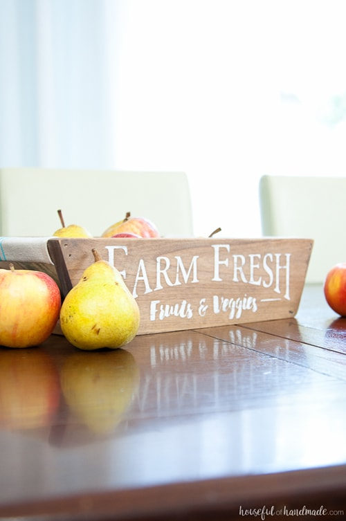 diy farmhouse style wooden produce basket