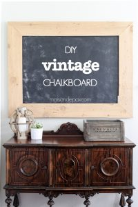 step by step tutorial for how to make a giant chalkboard with a vintage schoolroom look... for cheap!